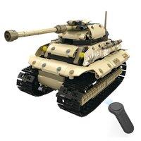 MoFun 13009 2.4G 4H USB Charging Building Block Simulated Military Vehicle 538pcs DIY Electric RC Car Tank Model Toy For Kids