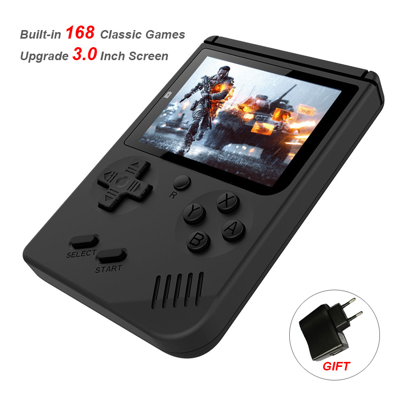 Built-in 168 Classic Games TVVideo Game Console Upgrade 3.0 Inch Screen Handheld Game Player Support TV Out Best Gift For Kids