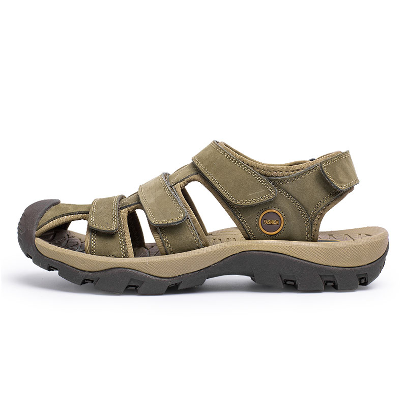 543cf05093c0e ... Sandals Thick Summer Beach Shoes New Sole Shoes Fashion Leather Genuine  Brand Fashion Beach Men K229 ...