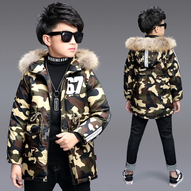 New Boy's Camouflage Winter Coat Parka Childen Jackets Warm Boys Clothes Kids Baby Thick Cotton Down Jacket Cold Winter Outwear женские пуховики куртки winter thick down coat xq746 new warm parka
