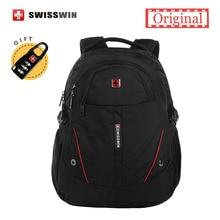 Swisswin männer laptop rucksack computer rucksack für und reise schwarz leichte stadt rucksack weiblichen sac dos