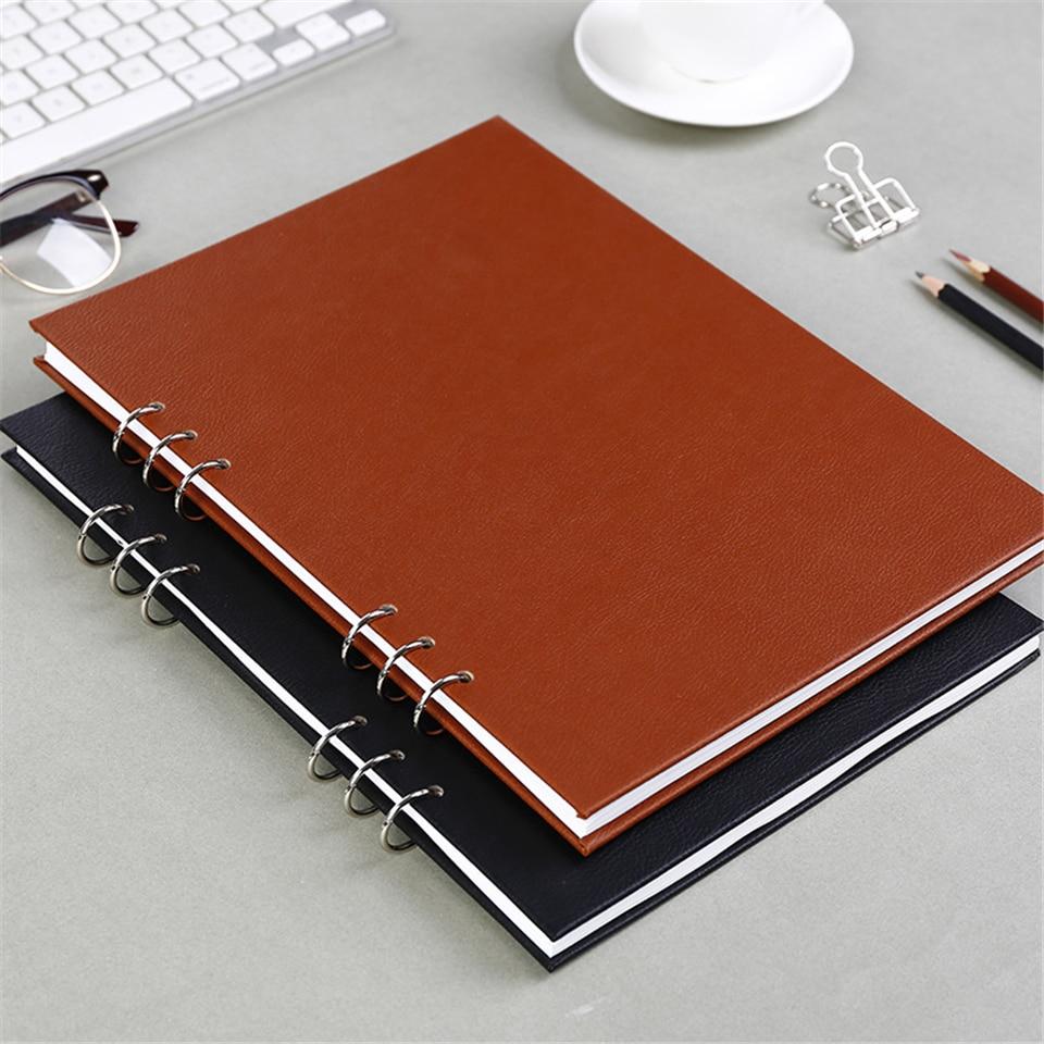 A4 Schetsboek Dagboek Spiraal Tekening Papier Marker Pad Graffiti - Notitieblokken en schrijfblokken bedrukken - Foto 5