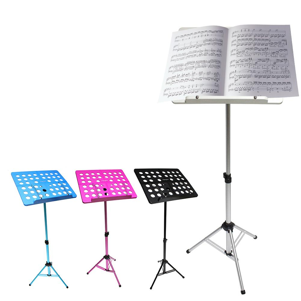 Flanger Aluminum Alloy ABS Foldable Sheet Music Tripod Stand Holder with Carrying Bag for Violin Piano