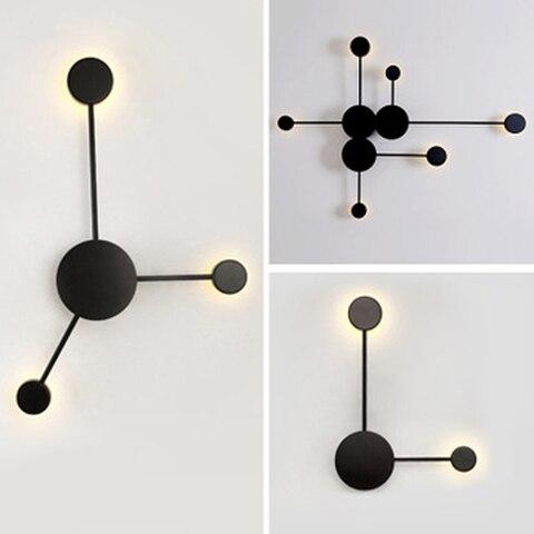 pos moderna lampada de parede simples led sala estar quarto lampada de cabeceira criativo corredor