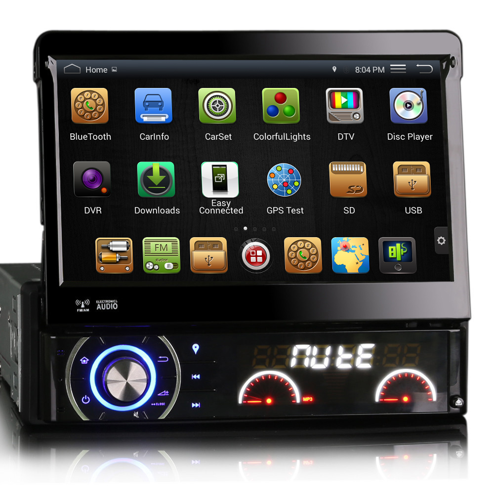 7 Capacitive Detachable panel Single Din Car DVD GPS One Din Car Radio 1 Din Car