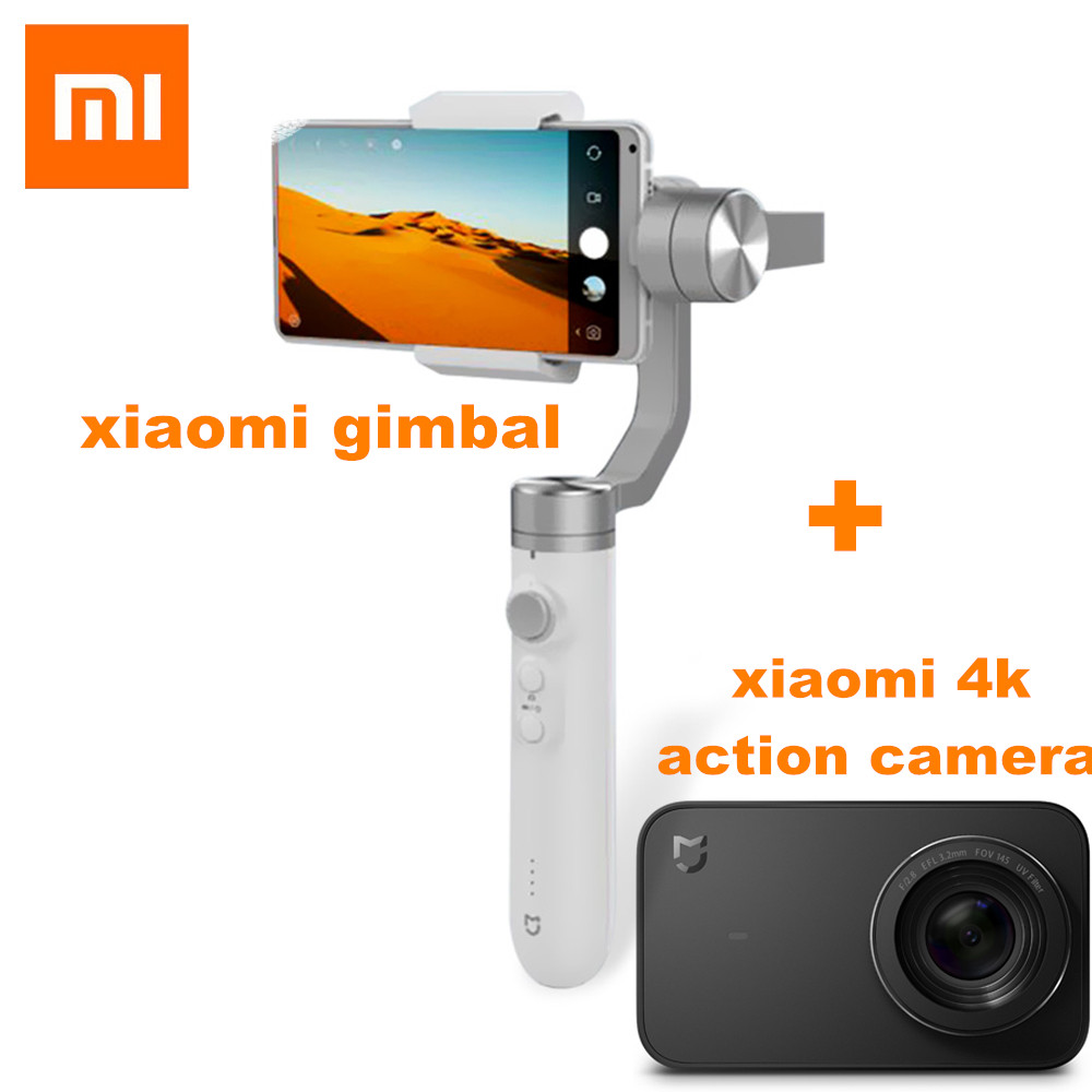 Xiaomi Mijia 3 Axis Handheld Gimbal Stabilizer For Xiaomi 4K Sport Action Camera And Phone Stabilizer VS Feiyu Tech ZHI YUN new xiaomi mi drone rc quadcopter spare parts handheld gimbal for 4k hd camera for fpv camera drone vs feiyu tech zhi yun