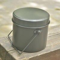 Vajilla cajas redondas de aluminio cookwares lunch box set de cocina al aire libre militar del ejército militar conjunto lío lata redonda en forma de