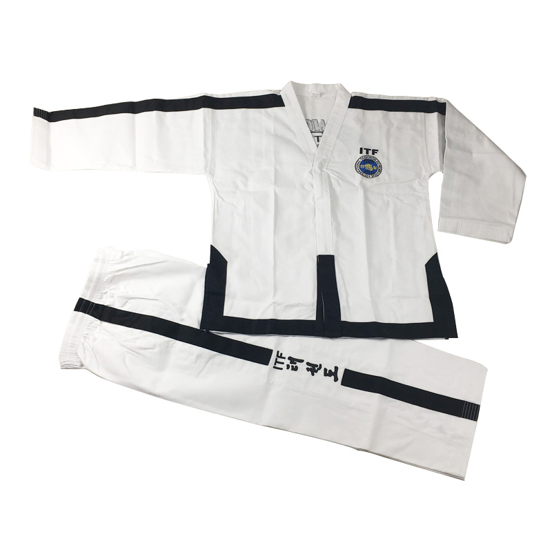 SINOBUDO Taekwondo White Embroidery Standard ITF Uniform For Instructor Master Uniforms Men Taekwondo Uniforms SuitSINOBUDO Taekwondo White Embroidery Standard ITF Uniform For Instructor Master Uniforms Men Taekwondo Uniforms Suit