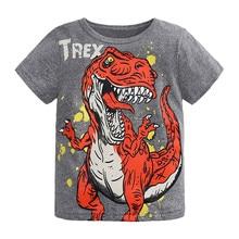Г. Модная летняя футболка для мальчиков мультфильм Динозавр детские топы, футболки для маленьких мальчиков хлопковые детские топы с короткими рукавами, футболки