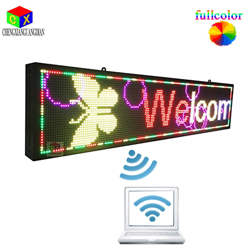 40x9 pouces Programmable-outdoor-7-color-rolling-advertising-led-sign-display-Wifi