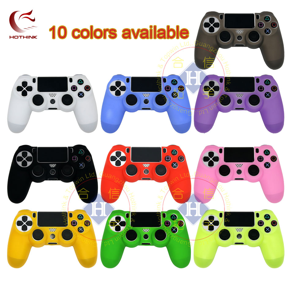 HOTHINK Protective Silicone Case Skin cover Soft case for Playstation 4 Slim PS4 Pro Controller dualshock 4 gamepad