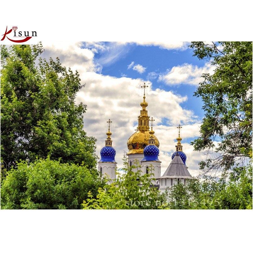 Getrouw Diy 5d Diamant Schilderen Kruissteek Diamant Borduurwerk Landschap Moskou Kremlin De Foto Plakt Mozaïek Kit Muursticker C182 Aangenaam In De Nasmaak