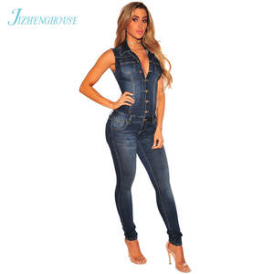 5b141f5f251 JIZHENGHOUSE Women Jeans Jumpsuit Denim Playsuit Rompers