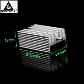 20Pcs Gdstime Aluminium TO220 Heatsink TO-220 Heat Sink Transistor Radiator TO 220 Cooler Cooling 7805 21*15*11MM цена 2017