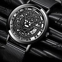 SOXY - Silver & Gold Luxury Hollow Steel Watch 1