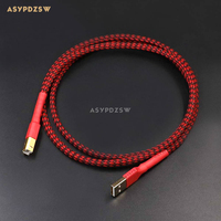 1 2M Gold Plated 4 Core L 2B2AT OFC Teflon USB Cable HIFI Audio DAC Connection