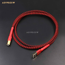 1.2M Gold-plated 4 core L-2B2AT+OFC-Teflon USB cable HIFI Audio DAC connection cable Amplifier decoder data cable