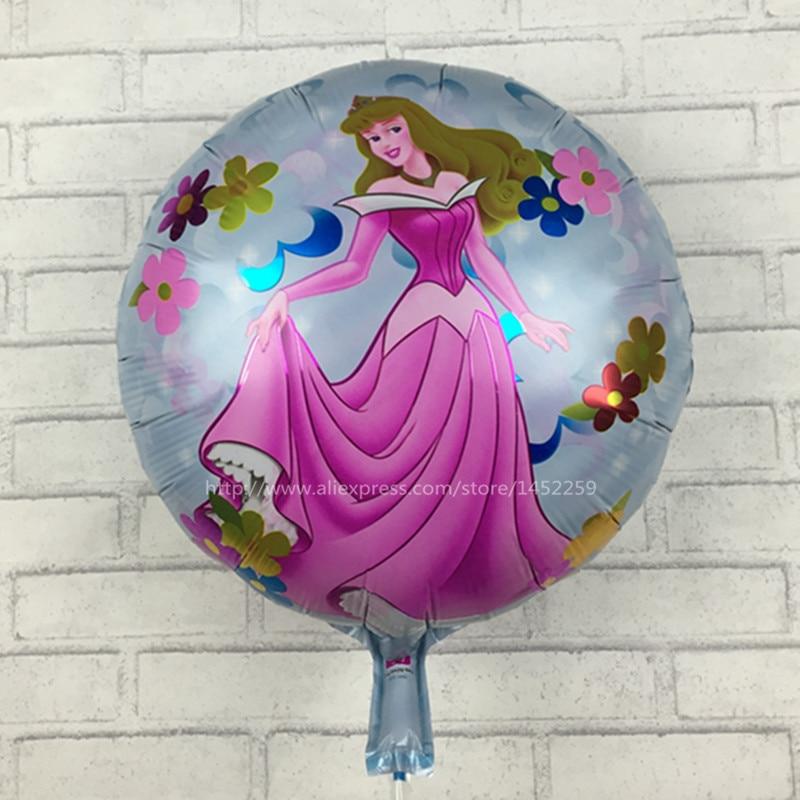 XXPWJ The new round aluminum balloons balloon toys for children Rapunzel birthday balloons party decoration wholesale