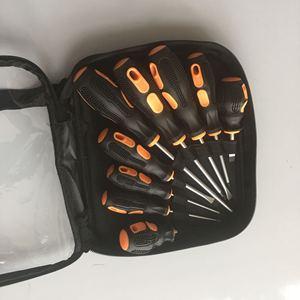 Image 2 - 9PCS screwdriver set Cr  V Screw Driver Destornillador chave de fenda papelaria With rubber wrapped handle and Bag