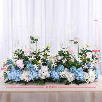 Angela flower Artificial & Dried Flowers White blue B