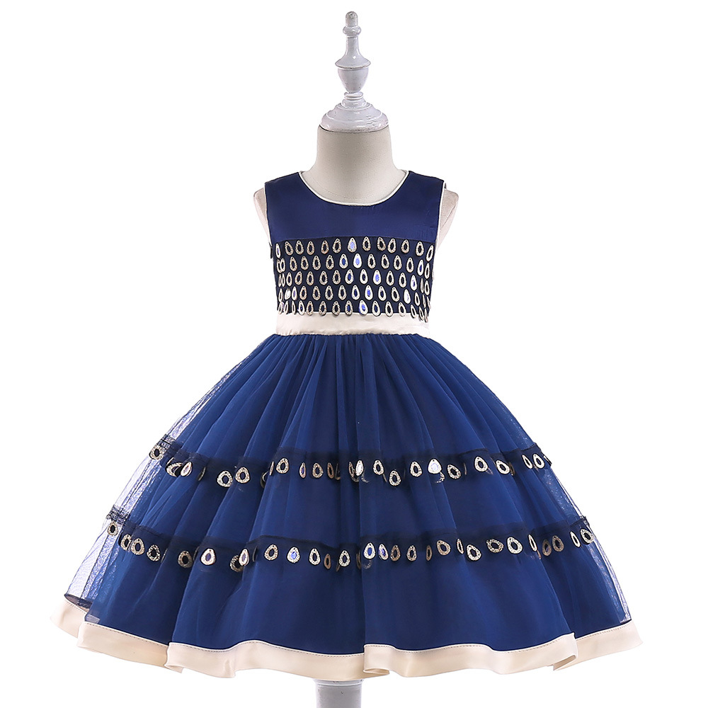 Lace appliques ball gown performance dresses little girl beading ...