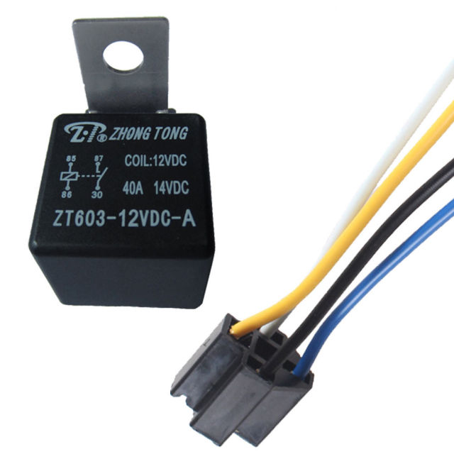 ee support 12v 40a amp spst relay socket harness 4 pin 4p 4 wire rh aliexpress com SPDT Relay Wiring Diagram Dpdt Relay