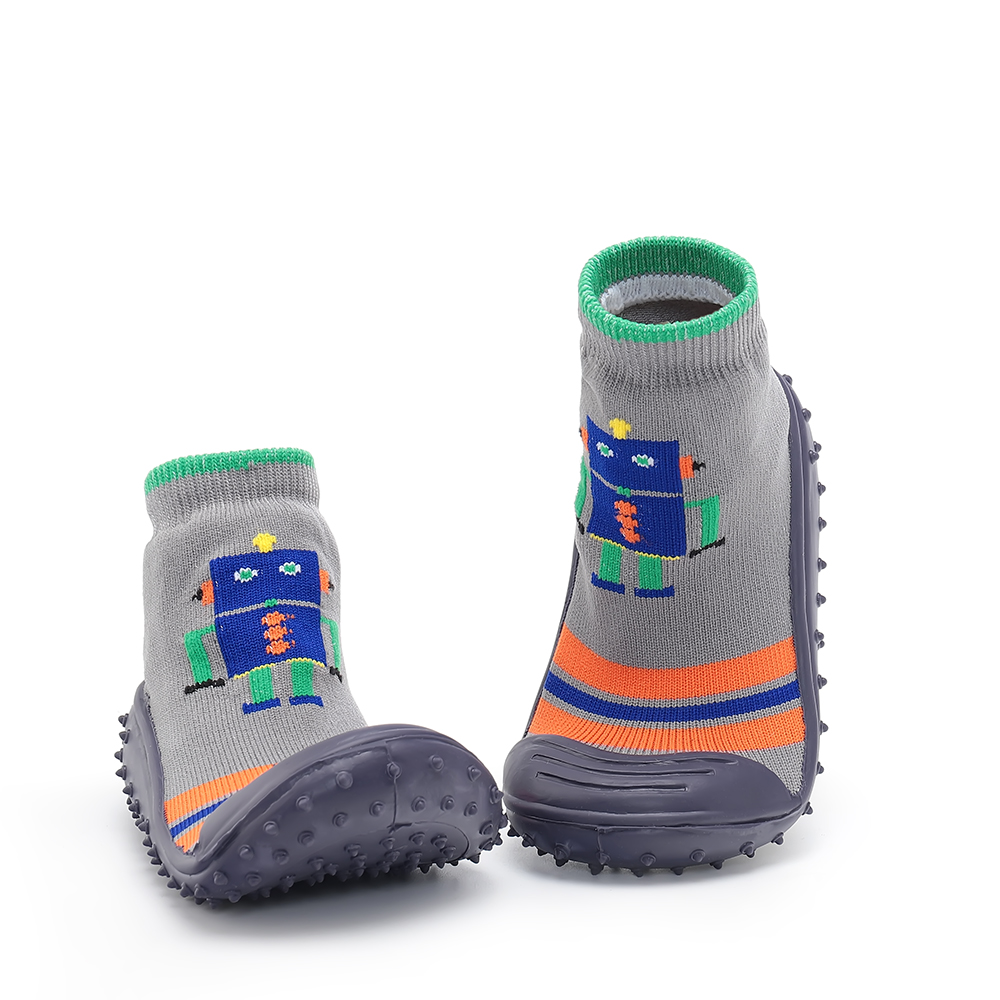 Joyo Roy Infant First Walkers Toddler Indoor Floor Shoes  Anti Slip Socks Learning To Walk Cotton Baby Socks With Rubber Soles