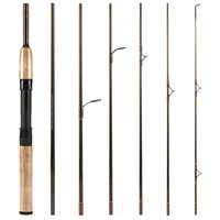 New 7 Section Interchangeable Carbon Fiber Fly Rod And Ultra light Spin Rod 2 in 1 Fishing Spinning Rod