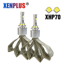 Xenplus led bulbs L7 XHP-70 6000k 55w 6600lm most powerful led h7 h4 h7 h8 h9 h11 9005 9006 9004 9007 9012 h13 bulbs for car