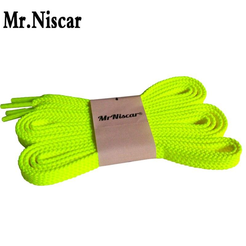 Mr.Niscar 2 Pair Fluorescent Yellow Flat Shoelaces for Men Women Casual Canvas Shoes Brand Shoelace Sneaker Shoe Laces Strings 45 neon orange 5 16 flat shoelace for all basketball shoes