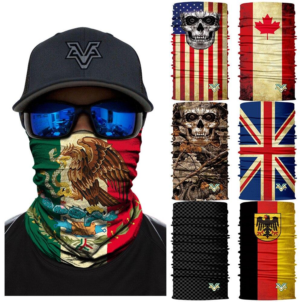 100 Pcs/lot 3d Nahtlose Bandana Schal Multifunktionale Stirnband Hals Wärmer Gesichtsmaske Radfahren Im Freien Skifahren Wandern Balaclava