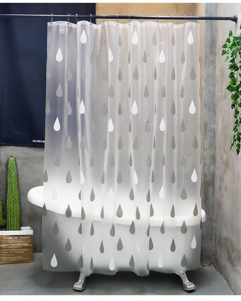 Rideau de douche salle de bain rideau cloison 1.8 m x 2 m 2 m x 2 m 2.4 m x 2 m Raindrop Matt