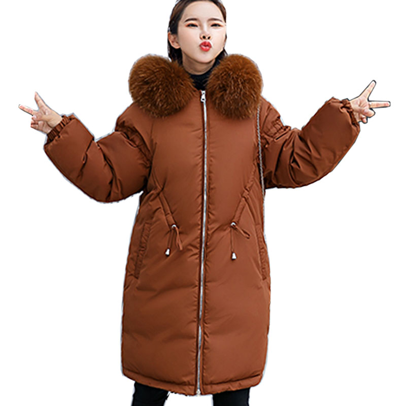 Women Jacket 2018 New Winter Down Jacket Coat Casual Women   Parkas   Warm Clothing Long Female Hooded Winter   Parka   Coats plus size