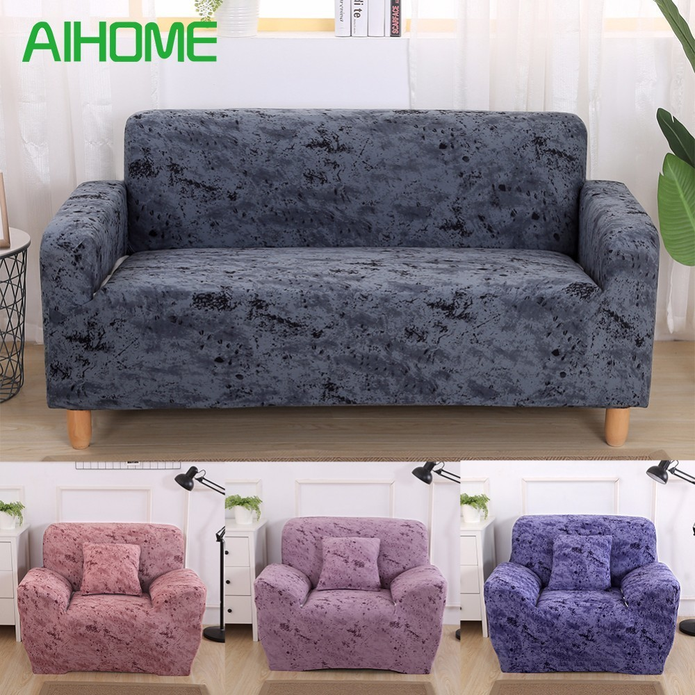 Elastic Cotton Sofa Cover Slipcovers all-inclusive Couch Case for different Shape Sofa High Quanlity Solid Color European Style