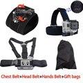Acessórios gopro chest harness cabeça alça de pulso para gopro hero4 sessão 3 câmera de ação sj4000 sj5000 sj7000 xiaomi yi 4 k conjunto