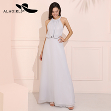 Alagirls New Arrival Chiffon Prom dress vestido de fiesta largos noche elegante A Line Evening Dresses 2019 Hot Sale