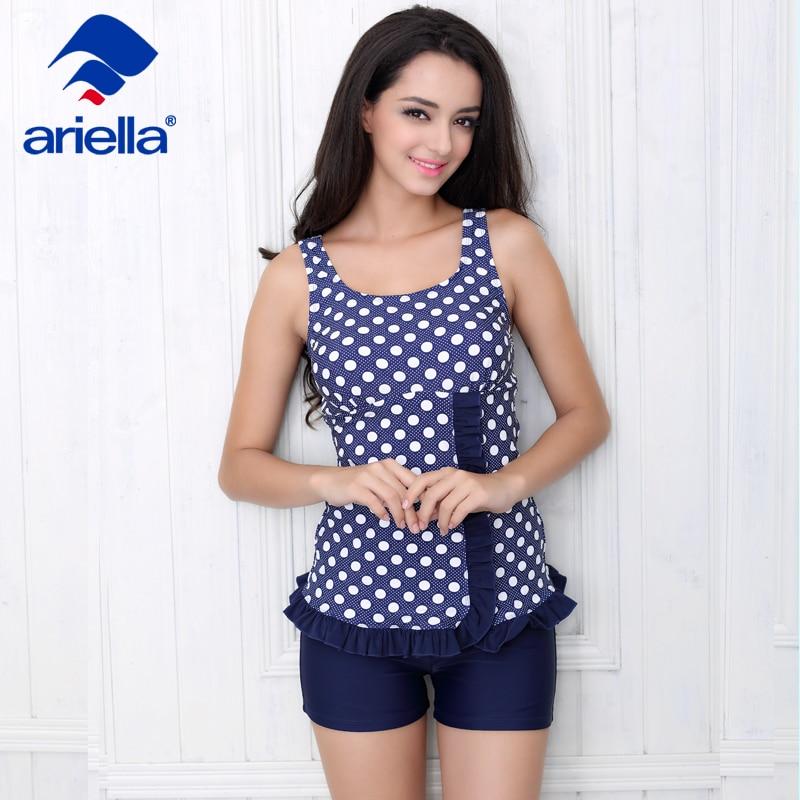0c5b9c518db New Women Sports Tankinis Set Swimwear for Lady Female Split Dots Swimsuit  Bathing Suit two pieces ari-37F 5208