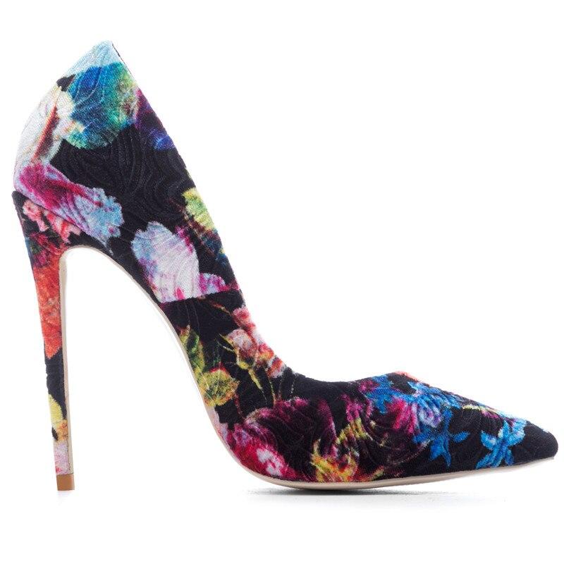 Color 8cm Estrecha Casual Heel Zapatos 12cm 45 Color Doratasia Mezclados  Punta Tacones Colores Más Mujer ... 6a00bdabf24c