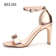 BELISS Sexy Classic Women Spring Summer Pumps Sandals High Heel Fahion Womens Ladies Ankle Strap Shoes Open Toe S65