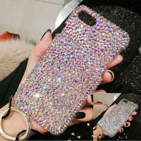 Soft Phone Case For iPhone X XS MAX XR Shiny Rhinestone Diamond Hard Protective Cover Skins For Apple iPhone 11 Pro Max 8 7 6 6s