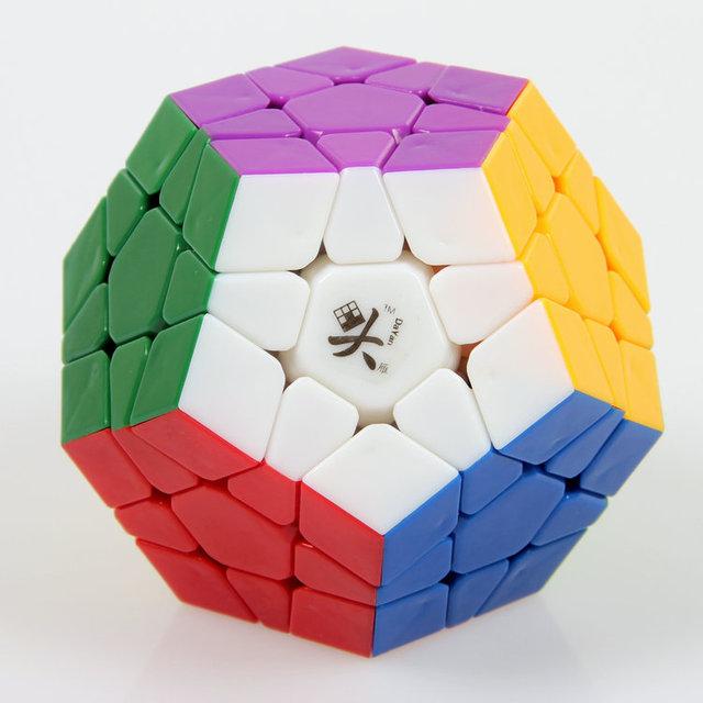 A estrenar DaYan Megaminx 1 ejes 3-rank Dodecahedron Stickerless cubo mágico Speed Puzzle cubos mágicos juguetes para el niño niño