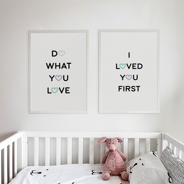 Us 2 81 48 Off Nordic Warm Sweet Creative English Phrase Canvas Painting Print Poster Picture Wall Art Children S Room Bedroom Home Decoration In