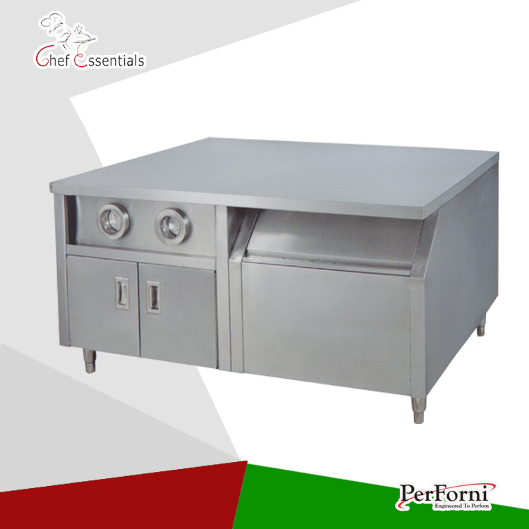PKJG-WS23 Fast Food Equipment for Commercial Center Island free ship new premium fast food equipment commercial package double grilled hamburger machine price