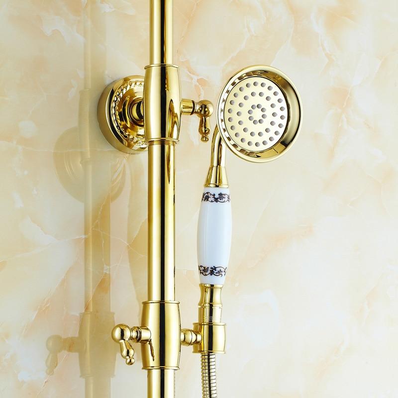 Aliexpress.com : Buy BOCHSBC Gold plated Shower Set European Style ...