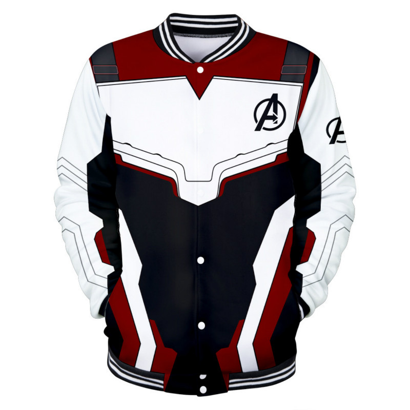 2019 New Movie The Avengers 4 Endgame Quantum War Dress Hoodie Cosplay Costume 3D Baseball Shirt Casual Costume
