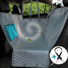 Hond Auto Seat Cover Met Mesh Kijkvenster & Opslag Pocket Pet Carriers Hond Seat Cover Waterdicht Antislip Backing