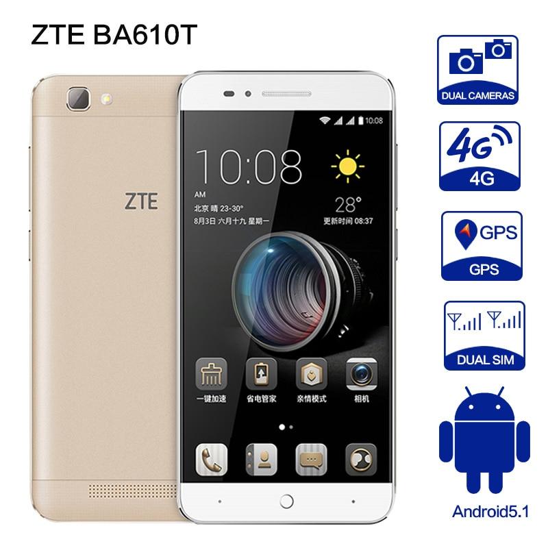 ZTE BA610T MTK6735P Quad Core Android 5.1  2GB RAM 8GB ROM 4000mAh Dual SIM 8MP Camera OTG Mobile Phone yuanhang 4 smartphone
