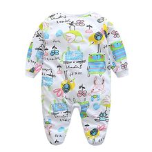 Newborn Toddler Baby Boy Girl Cute Warm Infant Romper Jumpsuit Bodysuit Cotton Clothes Outfit