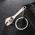 2018 New Zinc Alloy Silver Plated Changeable Spanner Keychain Wrench Key Chain Creative Keyfob Tools Keyring