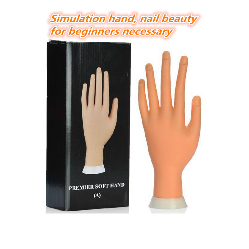 20PCS Nail Polish Practice Hand Mold Silicone Artificial Hand